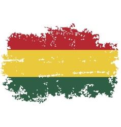 Bolivian grunge flag vector