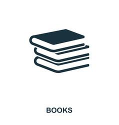 books icon line style icon design ui vector image