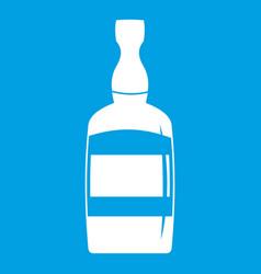 Brandy bottle icon white vector