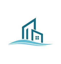 building wave logo vector image