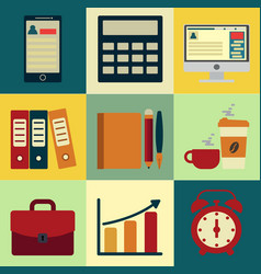 Business icons with background design of vector