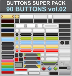 buttons super pack 2 vector image