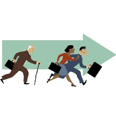 Career for older employees vector