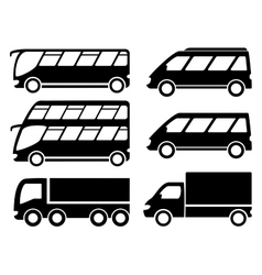Cargo transport set vector