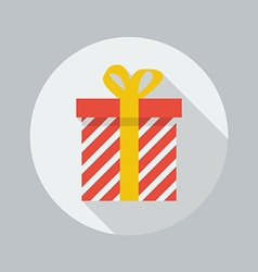 Christmas Flat Icon Gift box vector image