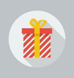 Christmas Flat Icon Gift box vector
