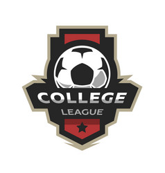 college league soccer logo vector image