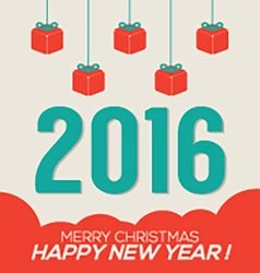 Colorful 2016 New Year Card vector image