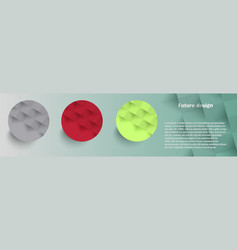 Colorful circles modern abstract composition with vector