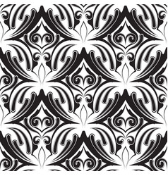 damask vintage black and white seamless vector image