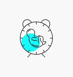 Delivery time baby birth child line icon vector
