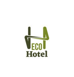 eco hotel sign vector image