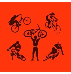Extreme bicycle sport vector image