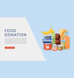 food donation web banner vector image