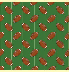 Football rugby ball seamless pattern hand drawn vector