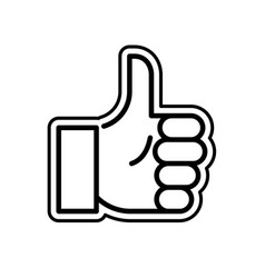 gesture admiration hend thumb up vector image