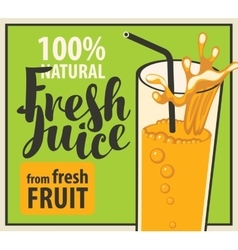 Glass of fresh juice vector