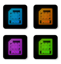 glowing neon png file document icon download png vector image