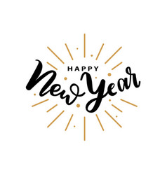happy new yearinscription winter lettering sign vector image