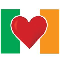 Heart irish flag vector