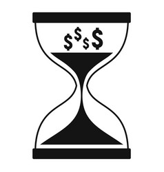 Hourglass icon simple style vector