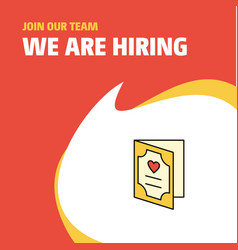 Join our team busienss company valentines day vector
