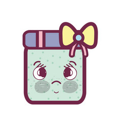 Kawaii surprised and cute gift design vector