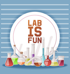 laboratory is fun banner vector image