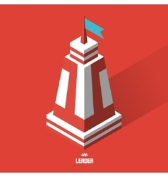Leader concept Tower 3d vector image