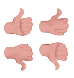 like and unlike hands vector image