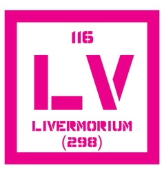 Livermorium chemical element vector image