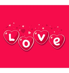 Lovely red hearts on pink background Art vector