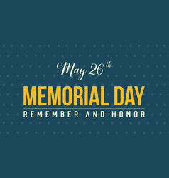 Memorial day of background style vector