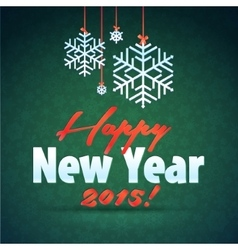 Merry Christmas and Happy New Year Snowflake Card vector