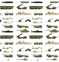 Military transport technic army war tanks industry vector