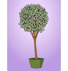Money tree pop art style vector