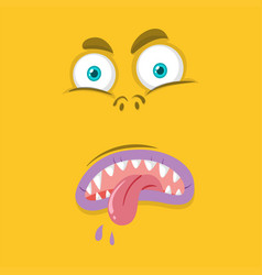 Monster with facial expression vector