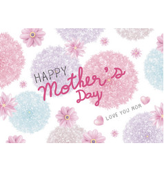 mothers day card design colorful flowers vector image