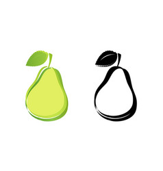 natural green pears vector image