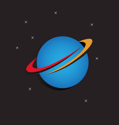 orbit of earth logo vector image