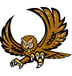 owl logo mascot vector image