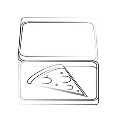 Pizza box delivery fast food icon image vector