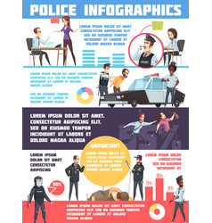 police infographics layout vector image