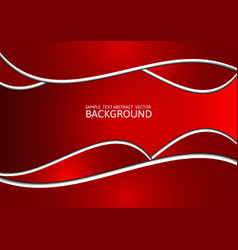 Red abstract background with copy space vector