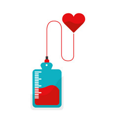 Red blood donation bag transfusion vector