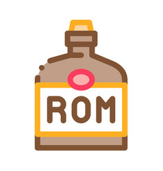 rum drink bottle icon outline vector image
