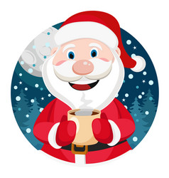 Santa claus with a cup in his hand vector