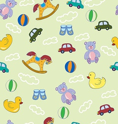 Seamless pattern with boys toys vector