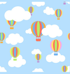 seamless pattern with clouds and different colors vector image