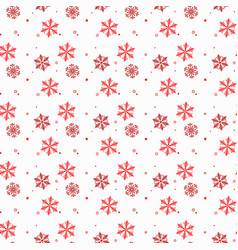seamless winter pattern background of snowflakes vector image
